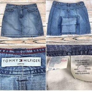 Women's Vintage Tommy Hilfiger Open Straight Skirt